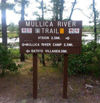 Mullica river sign