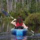 kayaker on the batsto river new jersey pine barrens
